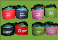 Personalised Embroidered Drakes Pride 2 Bowl Carriers 4 Colours Any Name FREEPOST UK